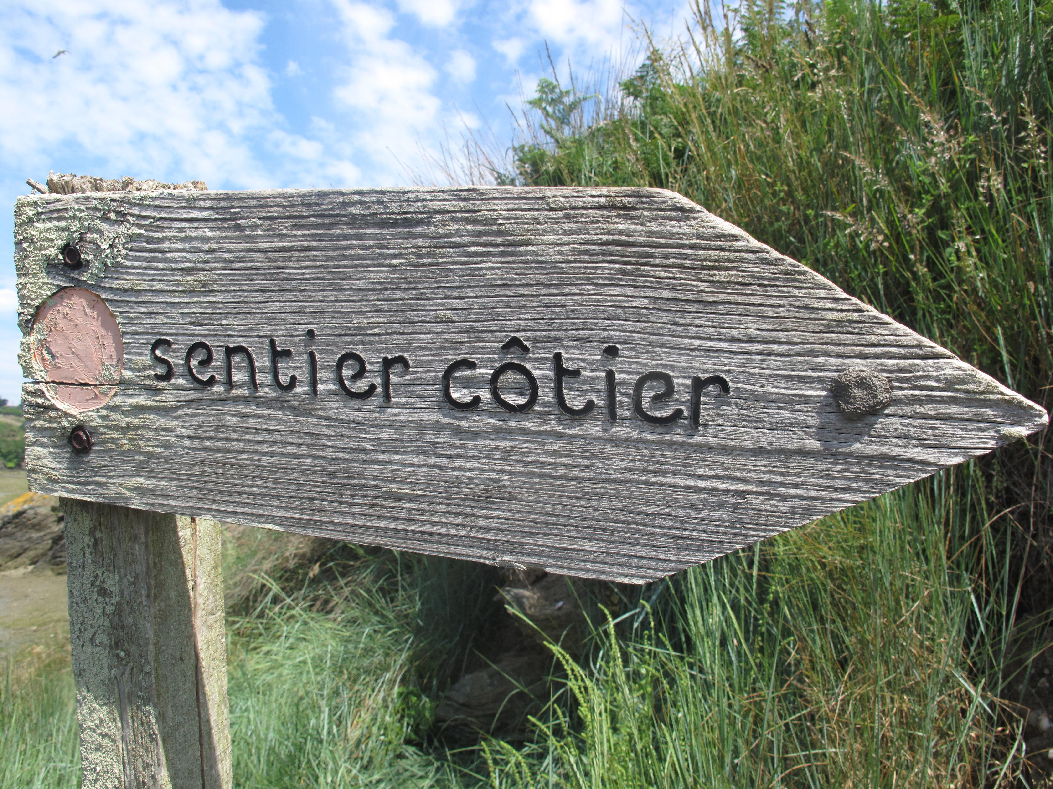 Panneau Sentier côtier