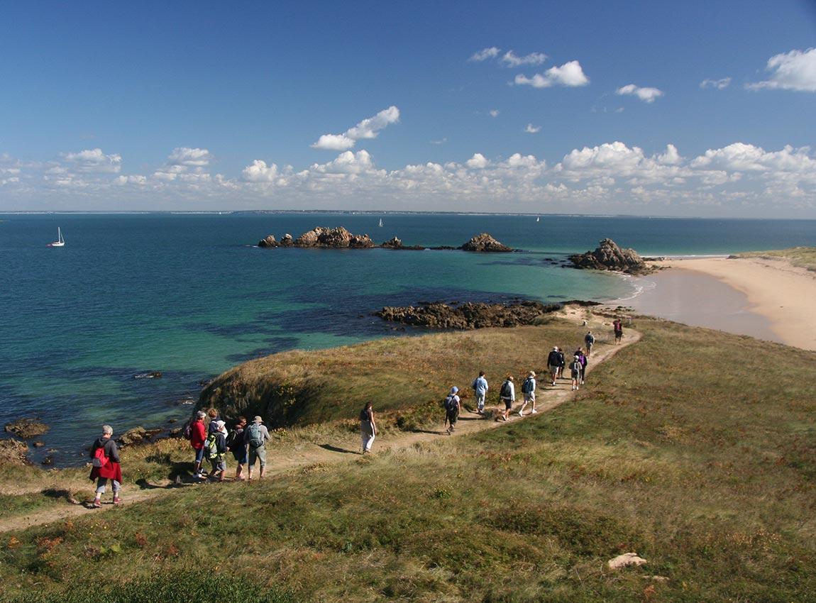 Sentier côtier sur l'île de Houat