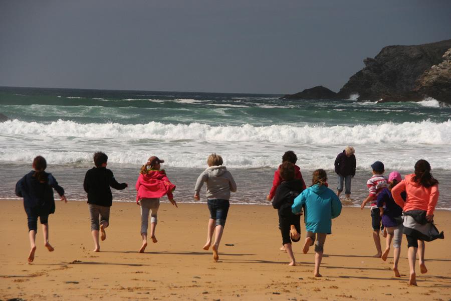 Sur la plage de Donnant