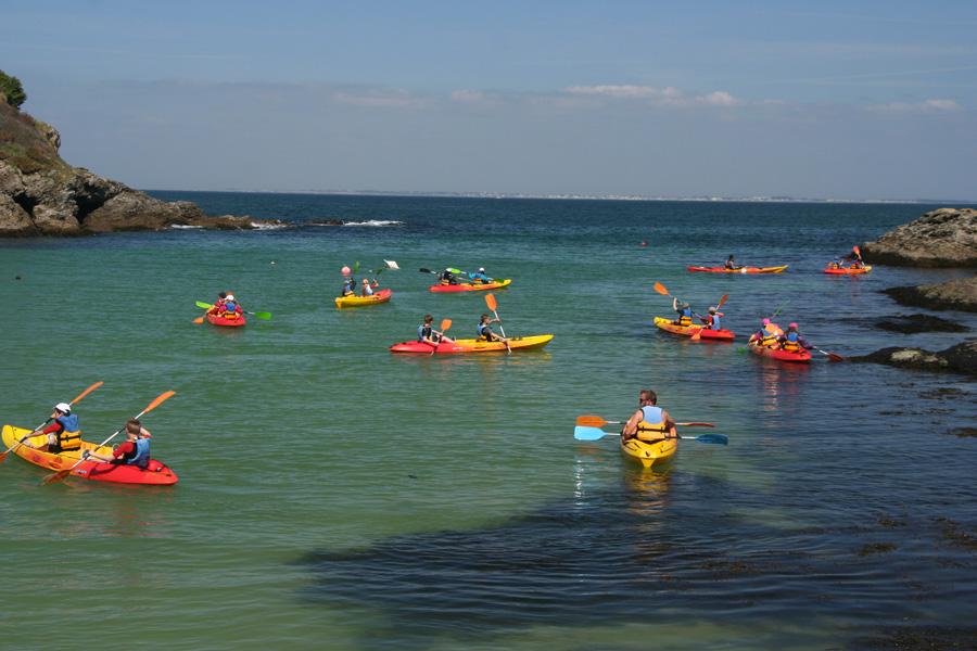 En kayak de mer à Belle ile en Mer