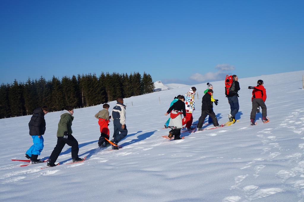 En raquettes à neige avec Chriss sur les volcans d'Auvergne
