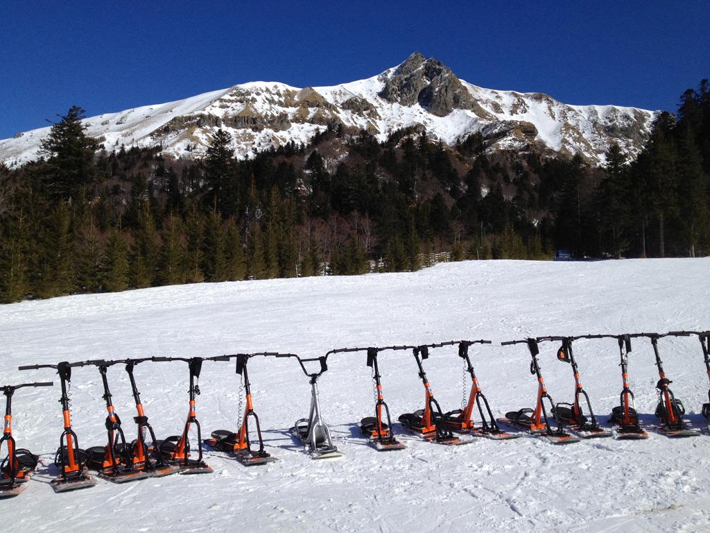 Initiation au snowscoot !!