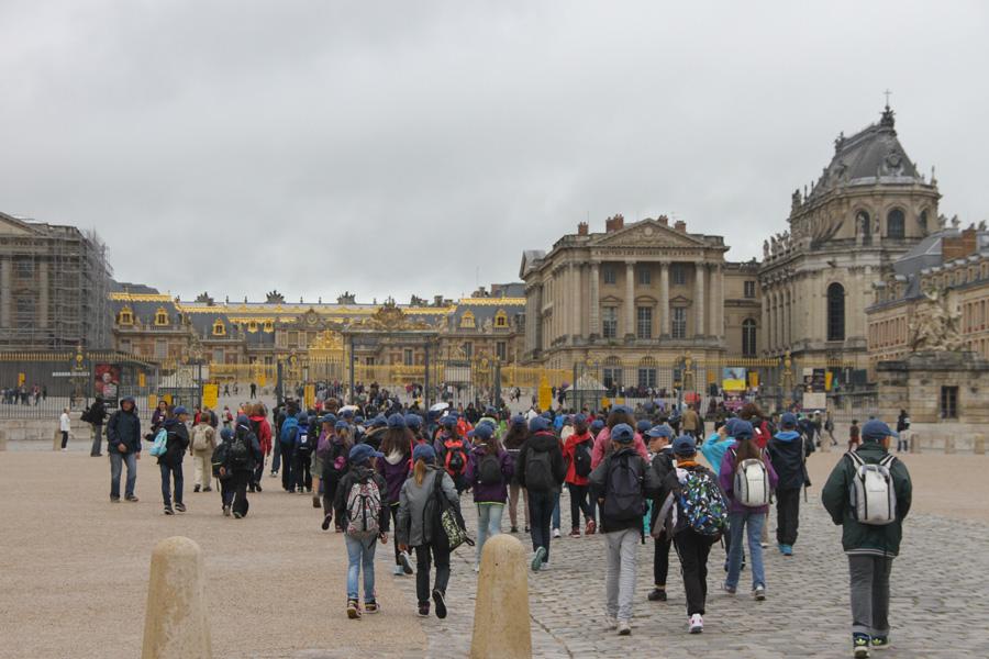 Arrivée au Château de Versailles