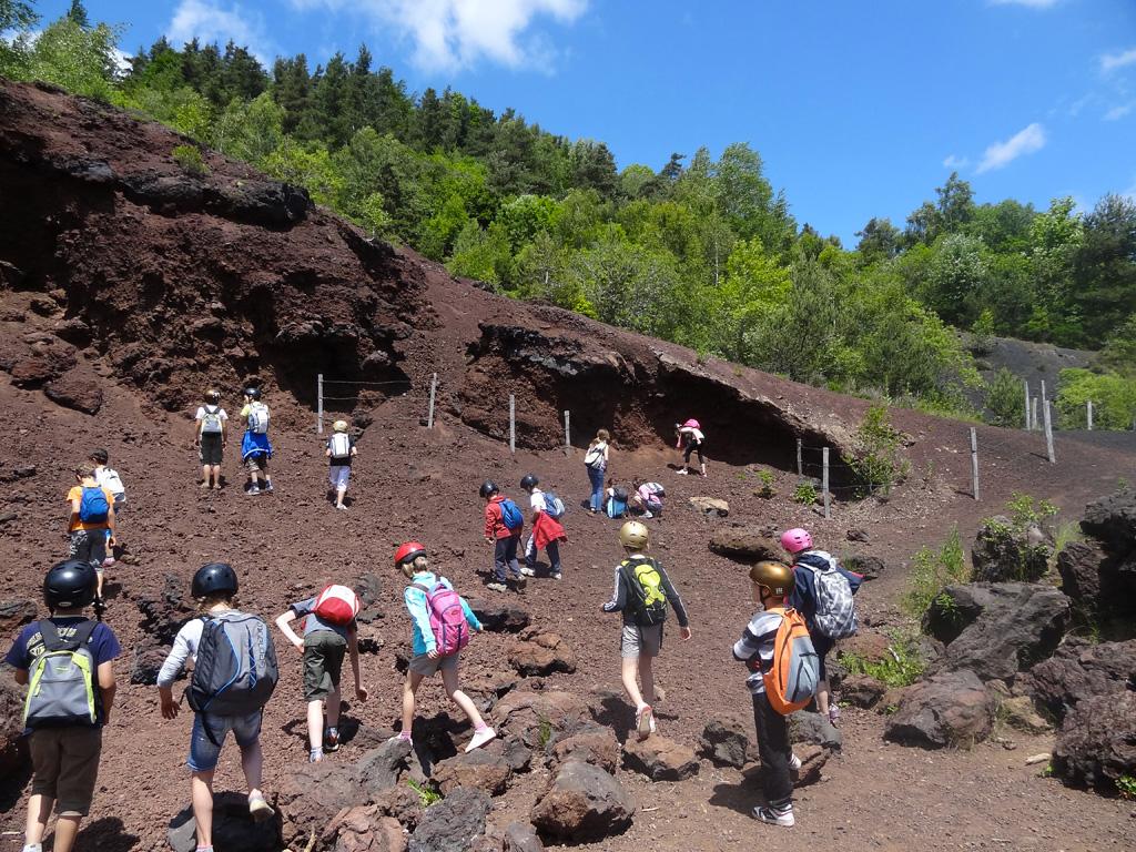 Classe VTT: échantillonnage sur les volcans