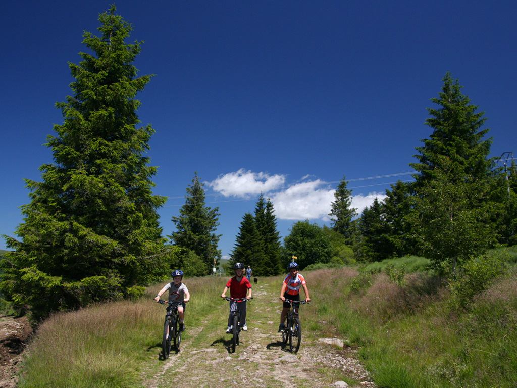 En VTT sur les chemins volcaniques des monts d'Auvergne