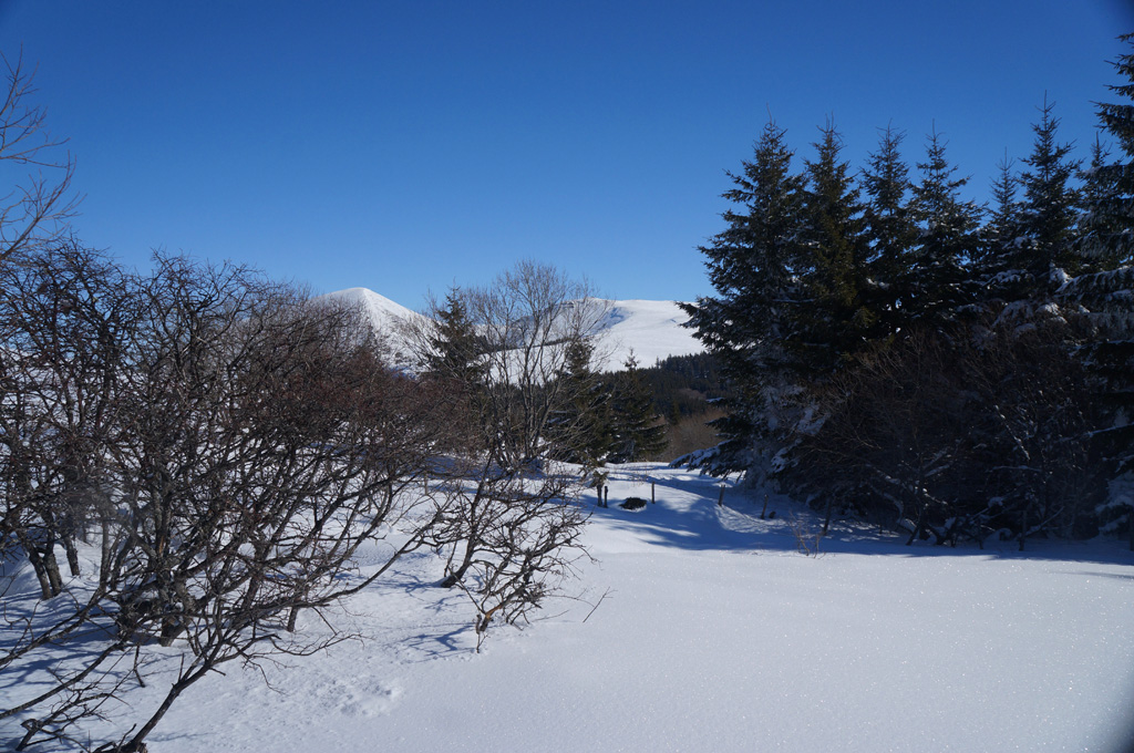 Le Puy de l'Ouire depuis le plateau du Guéry