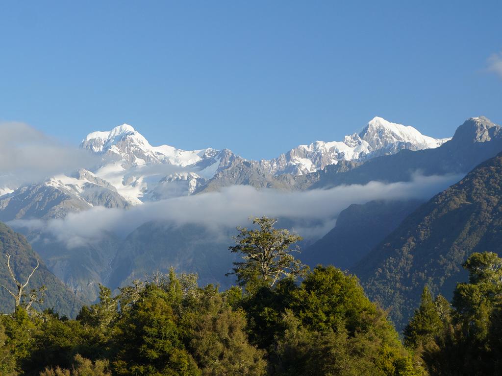 Le Mont Tasman et le Mont Cook