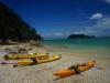 Kayak de mer au Parc national d'Abel Tasman sur l'île du Sud