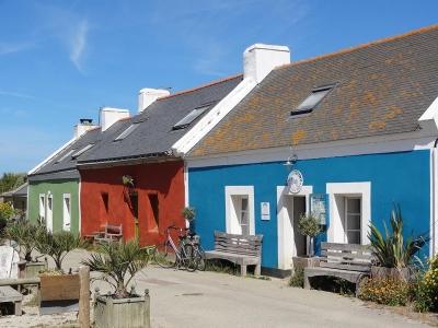Maisons colorées à Belle-Île-en-Mer