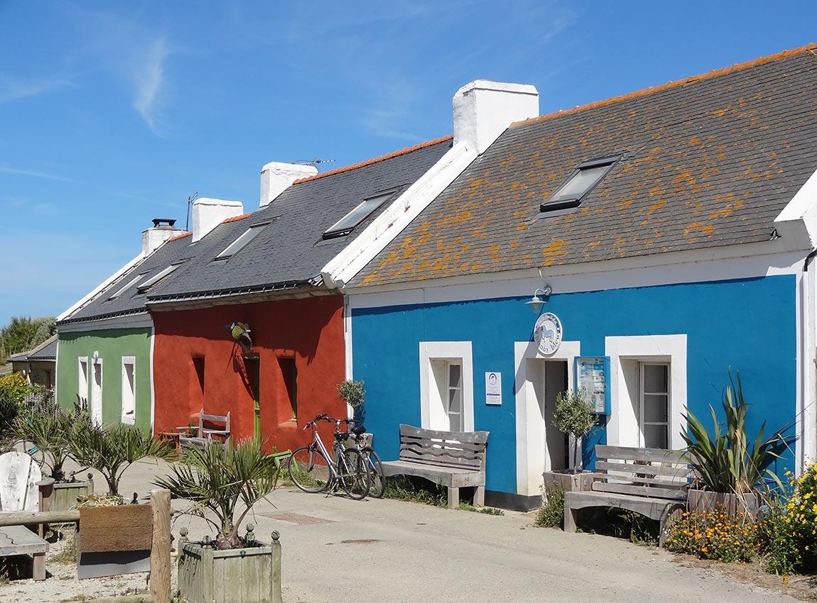 Maisons colorées à Anter