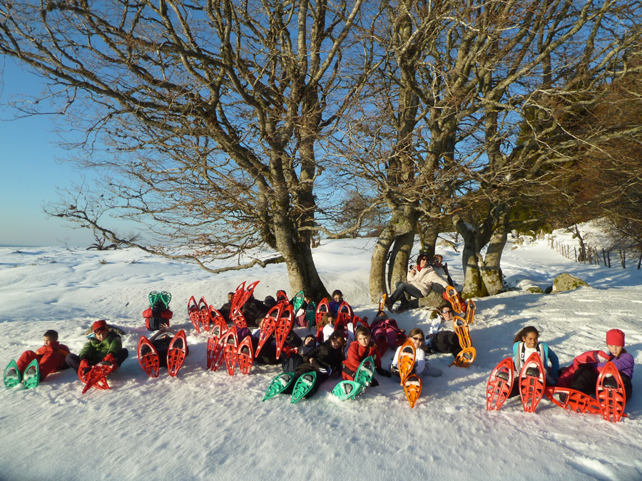 Classe découverte neige avec Triplebuses