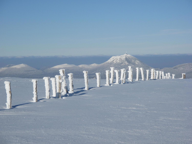 La Chaîne des Puys depuis le massif de l'Aiguiller