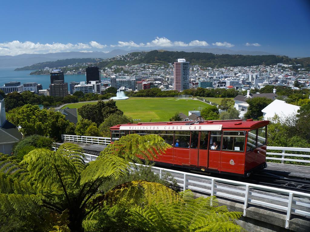 Cabble-car à Wellington sur l'île du Nord